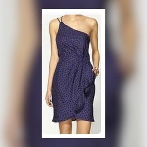 BCBGeneratiin One Shoulder Polka Dot Dress